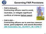 governing far provisions3