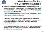 miscellaneous topics non government advisors1