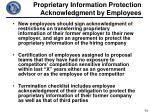 proprietary information protection acknowledgment by employees