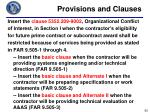 provisions and clauses3