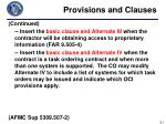 provisions and clauses4