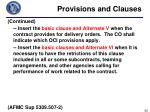 provisions and clauses5