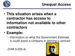 unequal access