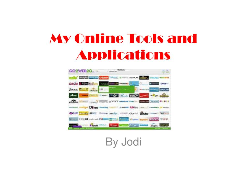 my online tools and applications l.