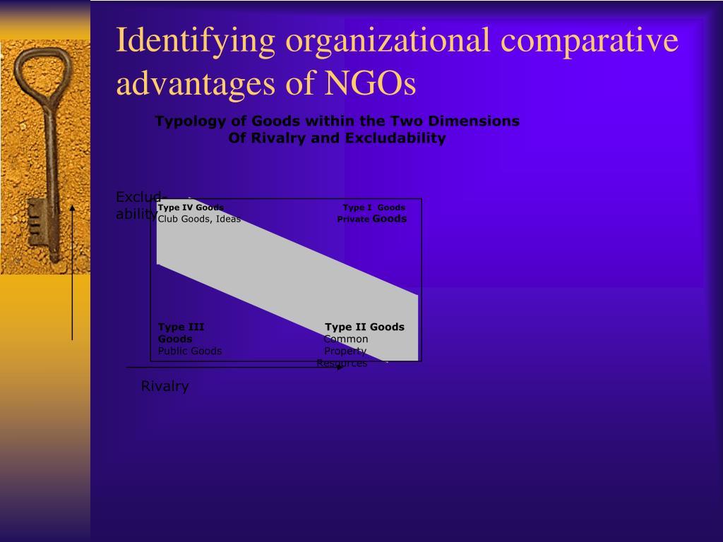 Identifying organizational comparative advantages of NGOs