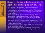 illustrative programs building assets capabilities for escaping poverty traps