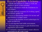 keys to capability a schema