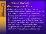 l common property mismanagement traps