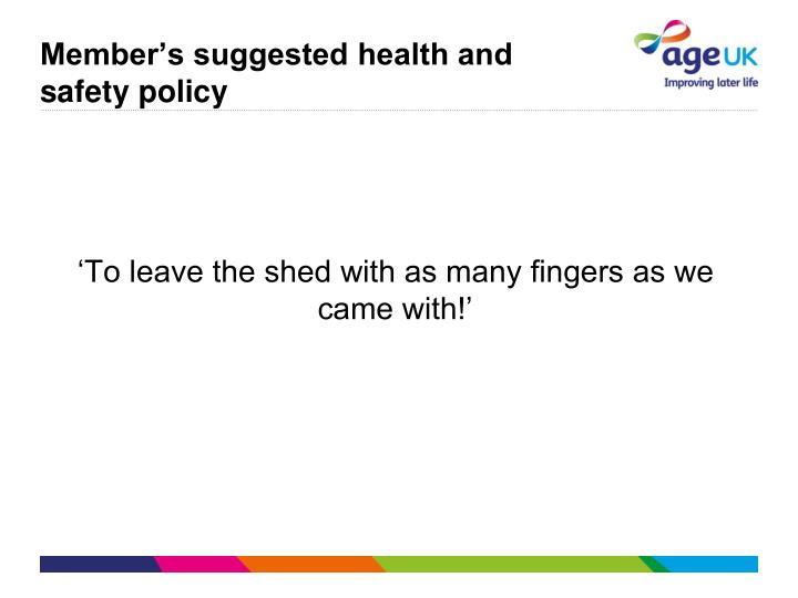 Member's suggested health and