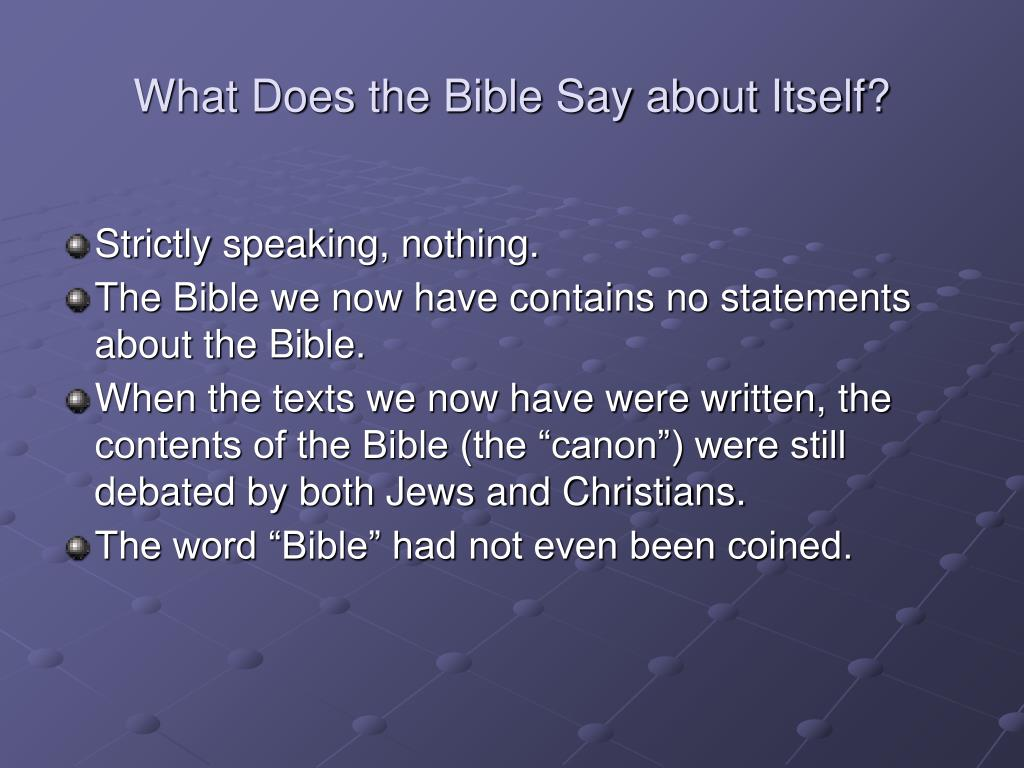 Ppt - What Does The Bible Say About Itself Powerpoint -5604