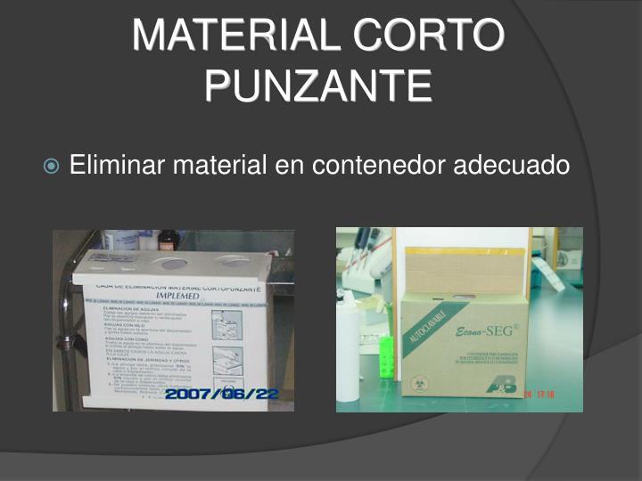 MATERIAL CORTO P