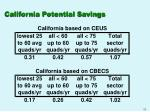 california potential savings