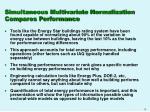 simultaneous multivariate normalization compares performance