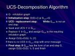 ucs decomposition algorithm