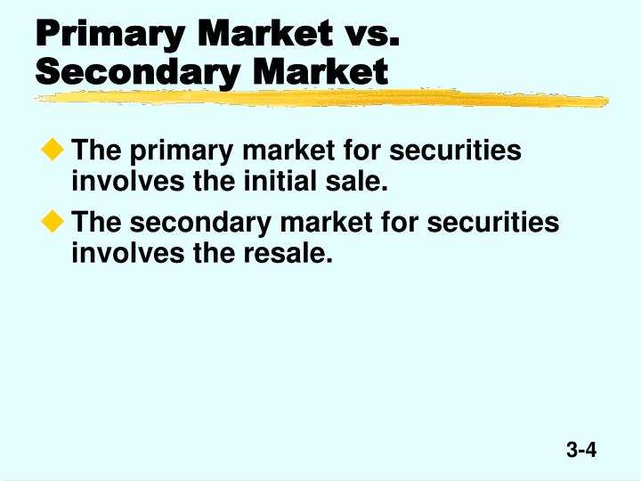primary and secondary market Comparison between primary and secondary market abstract: comparison between primary and secondary markets are discussed below the comparison between primary and secondary market lies in the process in which funds are raised from the capital market.