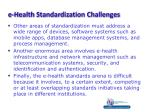 e health standardization challenges1