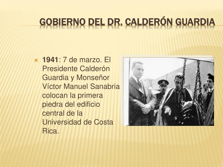 Gobierno del Dr. Calderón Guardia