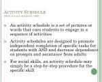 activity schedule mcclannahan krantz 1999