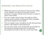 assessing and selecting goals9