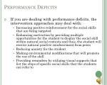 performance deficits