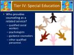 tier iv special education