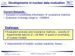 developments in nuclear data evaluation