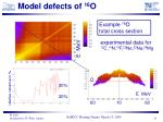 model defects of 16 o