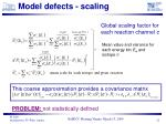 model defects scaling