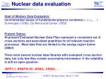nuclear data evaluation