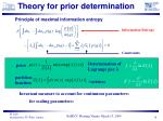 theory for prior determination
