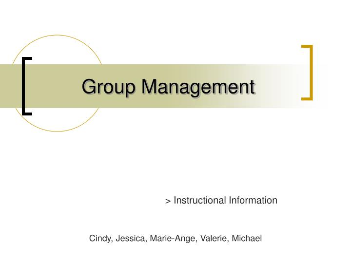 group management n.