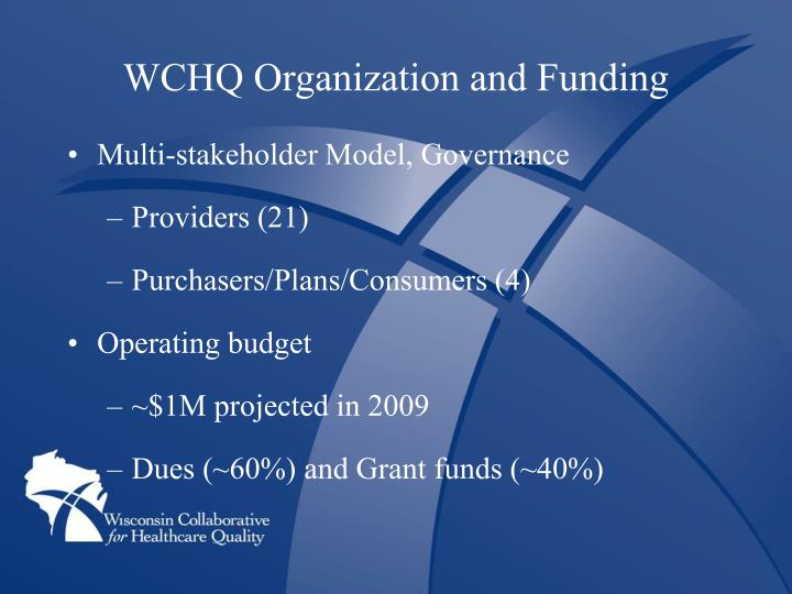 WCHQ Organization and Funding