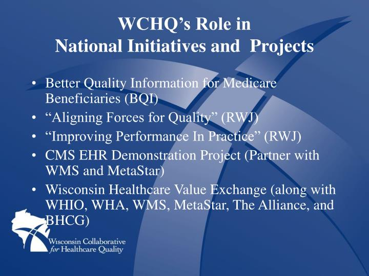 WCHQ's Role in