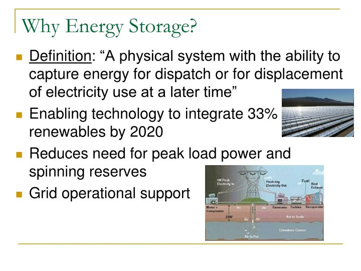 Why Energy Storage?