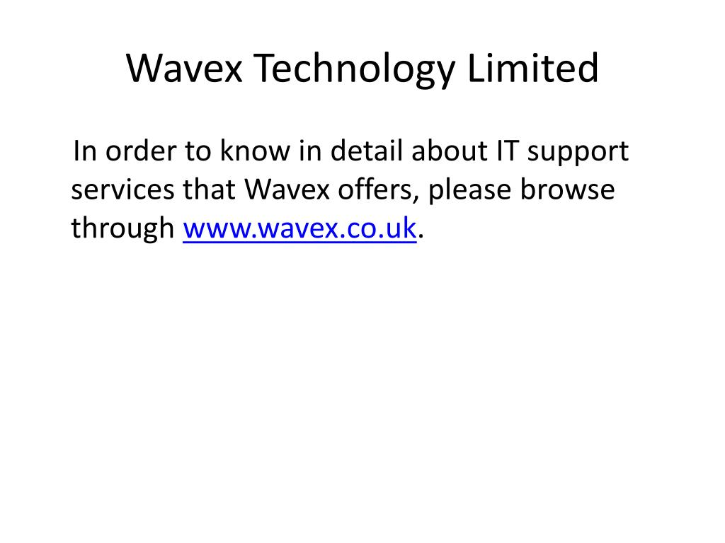 Wavex Technology Limited