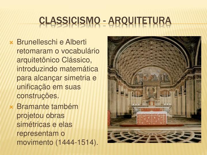 Classicismo - arquitetura
