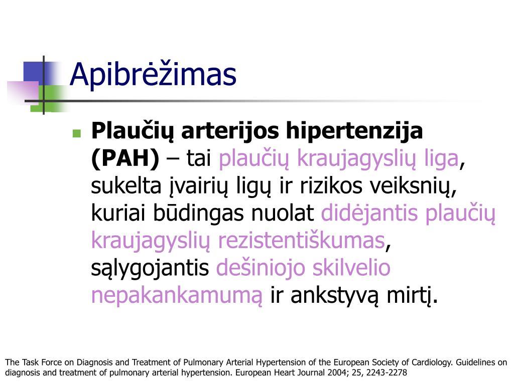 PSO įvertino hipertenziją