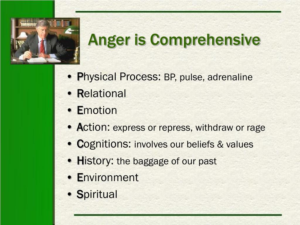 Anger is Comprehensive