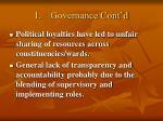 1 governance cont d