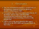 1 governance