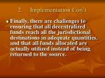 2 implementation con t