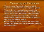 3 monitoring and evaluation