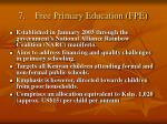 7 free primary education fpe