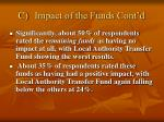c impact of the funds cont d