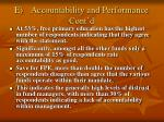 e accountability and performance cont d