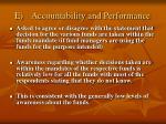e accountability and performance
