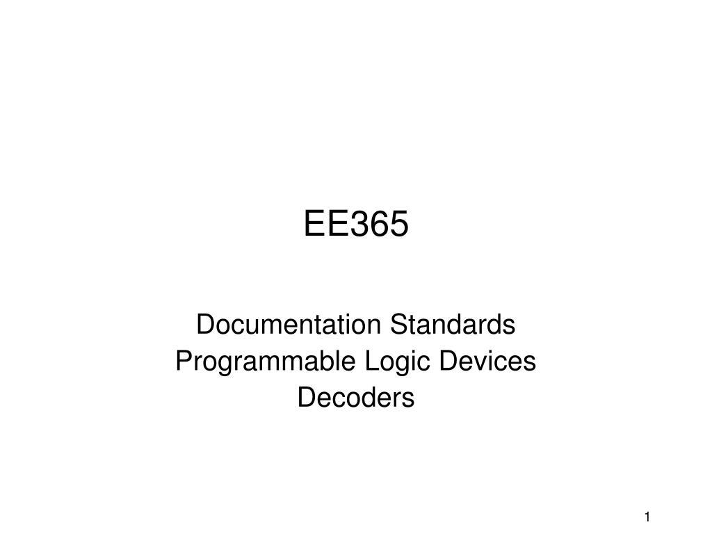 PPT - EE365 PowerPoint Presentation