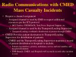 radio communications with cmed mass casualty incidents1