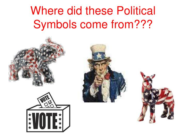 where did these political symbols come from n.