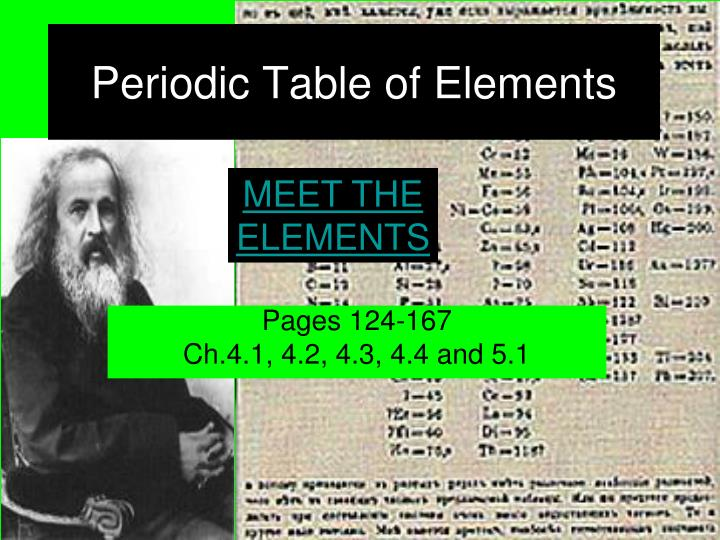 periodic table of elements n.